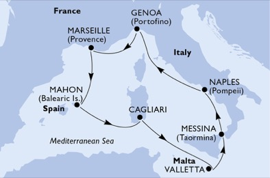France - Côte d'Azur - Marseille - Baléares - Italie - Malte - Sardaigne - Sicile - Croisière les Iles de la Méditerranée : des Bijoux à Découvrir