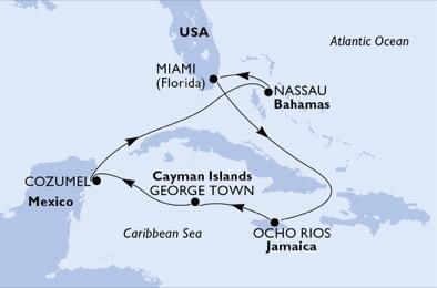 Bahamas - Îles Caïmans - Jamaïque - Mexique - Croisière Quatre Joyaux à Découvrir