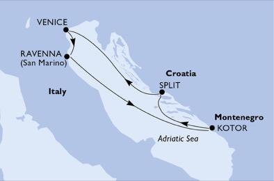 Croatie - Italie - Monténégro - Croisière une Vue Epoustouflante du Plus Haut Sommet de San Marino