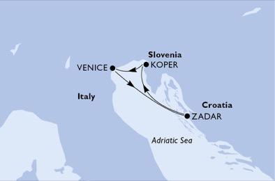 Croatie - Italie - Slovénie - Croisière les Premières Routes Vénitiennes