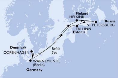 croisiere au coeur de la mer baltique, danemark, estonie, norvege