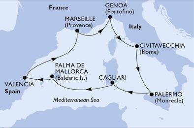 Baléares - Espagne - Italie - Sardaigne - Sicile - Croisière une Mer Unique & un Millier de Façons de la Découvrir