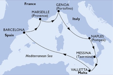 France - Espagne - Italie - Malte - Sicile - Croisière Histoire Ancienne & Vues Imprenables d'Italie du sud