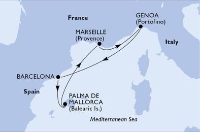 Précieux souvenirs de Méditerranée - CROISIÈRE AU DÉPART DE GÊNES (ITALIE) ,
