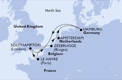 A la découverte de la mer du Nord - CROISIÈRE AU DÉPART DE LE HAVRE (FRANCE) ,