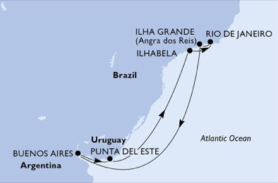 Brésil - Uruguay - Croisière Cap au Sud: Vers un Paradis Argentin