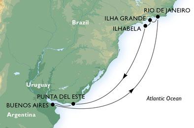Argentine - Brésil - Uruguay - Croisière Plaisirs Infinis
