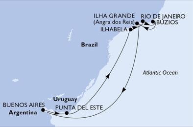 Argentine - Brésil - Uruguay - Croisière Soleil, Musique & Relaxation sur les Plages du Brésil