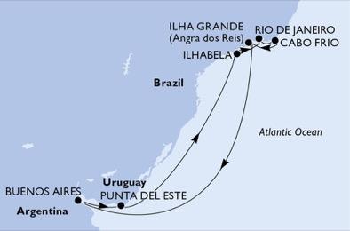 Argentine - Brésil - Uruguay - Croisière Plonger dans un Monde d'Emotions