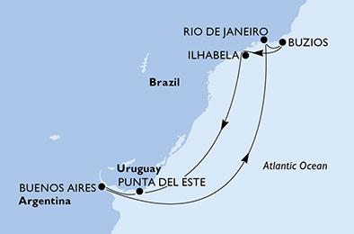 Argentine - Brésil - Uruguay - Croisière l'Amérique Latine, un Oasis Naturel