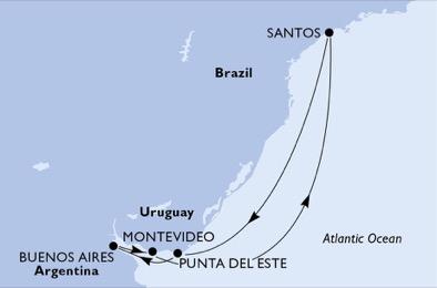 Perles de l'Amérique latine - CROISIÈRE AU DÉPART DE SANTOS (BRÉSIL)