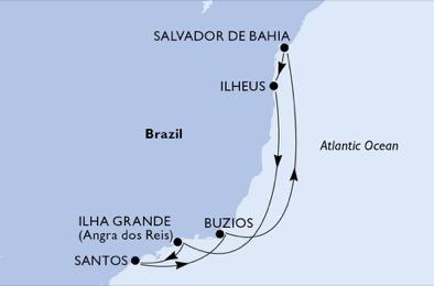 Brésil - Croisière le Brésil Tropical