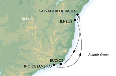 Des escapades verts au sable blanc - CROISIÈRE AU DÉPART DE RIO DE JANEIRO (BRÉSIL)