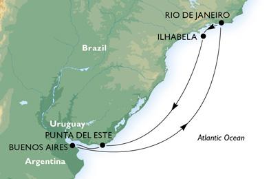 Les eaux cristallines de l'Amérique du sud - CROISIÈRE AU DÉPART DE RIO DE JANEIRO (BRÉSIL)