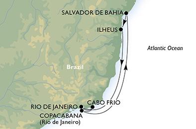 Brésil - Croisière Découverte de la Côte Ensoleillée