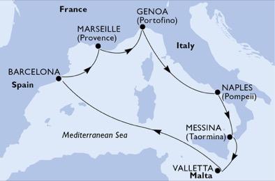 Histoire ancienne & vues imprenables d'Italie du sud - CROISIÈRE AU DÉPART DE MARSEILLE (FRANCE)