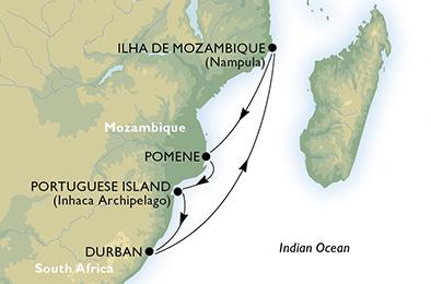Afrique du Sud - Mozambique - Croisière En Route pour un Paradis Africain