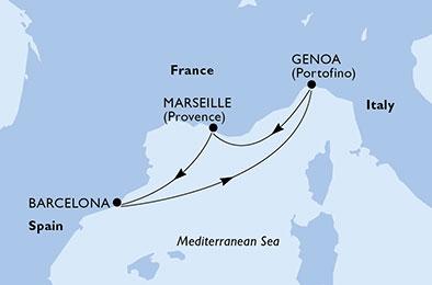 France - Côte d'Azur - Marseille - Espagne - Croisière Balade Méditerranéenne