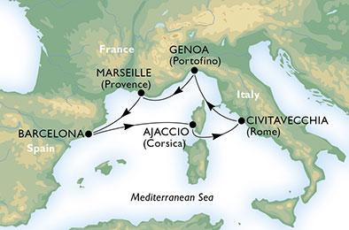 Escapade Méditerranéenne - CROISIÈRE AU DÉPART DE GÊNES (ITALIE) ,