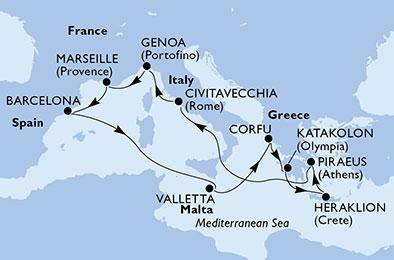 France - Espagne - Grèce - Italie - Malte - Croisière Panoramas Latins & Grecs
