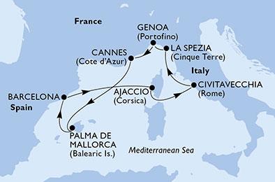 Des Baléares aux places romaines - CROISIÈRE AU DÉPART DE BARCELONE (ESPAGNE)