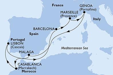 La Méditerranée depuis Gibralfaro - CROISIÈRE AU DÉPART DE BARCELONE (ESPAGNE)