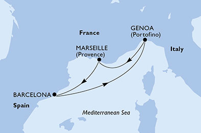 Précieux souvenirs de Méditerranée - CROISIÈRE AU DÉPART DE BARCELONE (ESPAGNE)