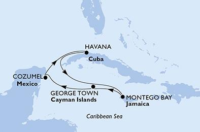 L'ÉTREINTE DES GRANDES ANTILLES - CROISIÈRE AU DÉPART DE LA HAVANE (CUBA)