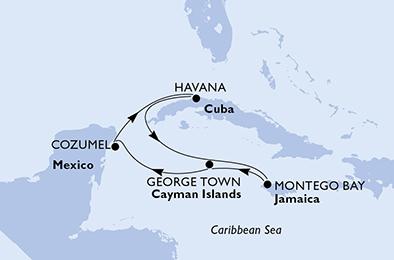 Cuba - Îles Caïmans - Jamaïque - Mexique - Croisière En quête des trésors des Caraïbes - au départ de la Havane (Cuba)