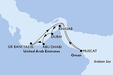 Joyaux de la nature dans la mer d'Arabie - CROISIÈRE AU DÉPART DE DUBAÏ (ÉMIRATS ARABES UNIS) ;,