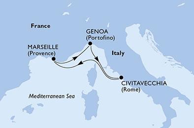 ROMANCES LATINES : Italie & Espagne - CROISIÈRE AU DÉPART DE GÊNES (ITALIE) ,