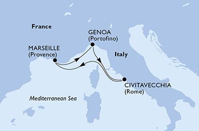 ROMANCES LATINES : Italie & Espagne - CROISIÈRE AU DÉPART DE MARSEILLE (FRANCE) ,