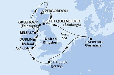 LES MOINES ANCIENS D'Irlande ET D'ECOSSE - CROISIÈRE AU DÉPART DE HAMBOURG (ALLEMAGNE)