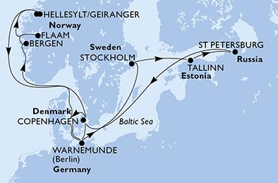 Croisière en Norvège MSC POESIA au départ de Warnemünde - 1