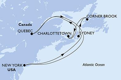 CAP SUR LE CANADA - CROISIÈRE AU DÉPART DE NEW-YORK (ETATS-UNIS)