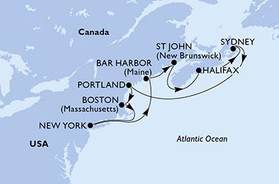 DE NEW-YORK A LA NOUVELLE-ÉCOSSE - CROISIÈRE AU DÉPART DE NEW-YORK (ETATS-UNIS)