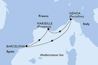 ESCAPADE EN MEDITERANNÉE - CROISIÈRE AU DÉPART DE MARSEILLE (FRANCE) ,