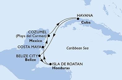 RUINES MEXICAINES ET RUES ANIMÉES DE CUBA - CROISIÈRE AU DÉPART DE LA HAVANE (CUBA)