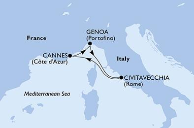 LES GRANDS PORTS D'Espagne ET D'Italie - CROISIÈRE AU DÉPART DE GÊNES (ITALIE)
