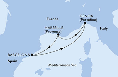 LES GRANDS PORTS D'Espagne ET De France - CROISIÈRE AU DÉPART DE GÊNES (ITALIE)