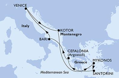 MYKONOS ET SANTORIN : INCONTOURNABLES DE LA MER EGÉE - CROISIÈRE AU DÉPART DE VENISE (ITALIE)