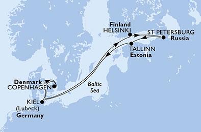 EN BLANC ET BLEU : FINLANDE ET ESTONNIE - CROISIÈRE AU DÉPART DE KIEL (ALLEMAGNE)