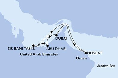 Tresors d'Oman et des Emirats - CROISIÈRE AU DÉPART DE DUBAÏ(EMIRATSARABESUNIS)