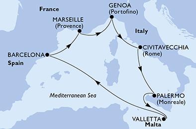 MSC GRANDIOSA - Méditerranée - CROISIÈRE AU DÉPART DE ...