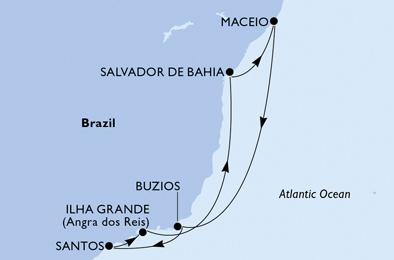 Croisière en Amérique du Sud à bord du MSC Seaside - 4