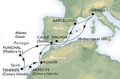 Spanien, Portugal, Marokko